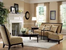 Living Room Interior Engaging Neutral Design Idea Using Photo Mantel Decoration Wooden Coffee