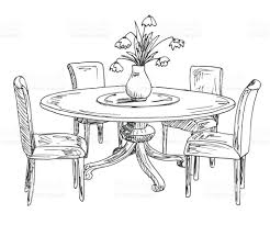 Flower Vase On The Table Clipart Inspirational Part Dining Room Round And Chairson