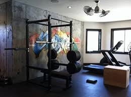 Artsy Garage Gym Idea That Came Out Perfect Simple Design With A Power Rack