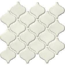 Home Depot Merola Lantern Ceramic Tile by Ms International Bianco Arabesque 9 84 In X 10 63 In X 6 Mm