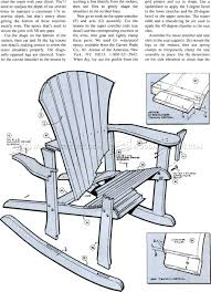 1860 Adirondack Rocking Chair Plans Outdoor Furniture Wooden ...