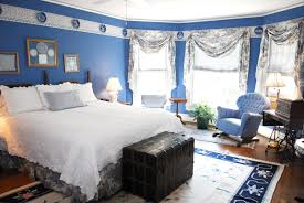 Bedroom Blue And White Decorating Ideas Navy Living Intended For Proportions 3000 X 2008