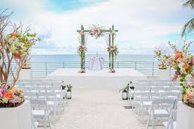 Patio Wedding Ceremony With Ocean Views At The Diplomat Beach Resort