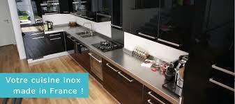 plan travaille cuisine fabricant plan de travail inox sur mesure finox