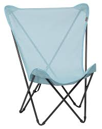 siege relax lafuma fauteuil pliant en toile maxi pop up bleu arctic lafuma
