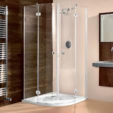glas runddusche maßanfertigung duschkabine viertelkreis eckdusche mit zwei drehtüren