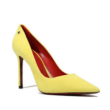paciotti women u0027s camoscio yellow high heel pumps cpw4503
