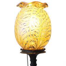 Rembrandt Floor Lamp Brass by Vintage American Durand Moorish Crackle Glass Shade And Rembrandt