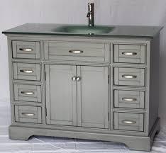 46 Inch Double Sink Bathroom Vanity by 46 Inch Bathroom Vanity Shaker Doors Style Gray Color With Glass