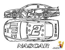 Nascar Coloring Pages Free Printable 19 Outline Drawing Az