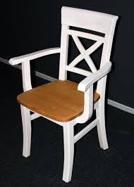 massivholz armlehnstuhl 2farbig weiß gelaugt geölt kiefer esszimmerstuhl