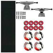 100 Buck Skate Trucks Board Kit Blind 45 Truck Griptape 52mm Wheels And