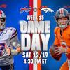 Bills at Broncos: Game day inactives