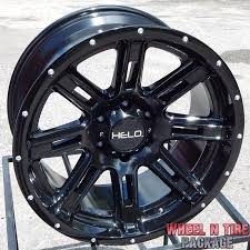100 Helo Truck Wheels 20x10 BLACK HELO HE900 WHEELS RIMS CHEVY SILVERADO TAHOE GMC SIERRA