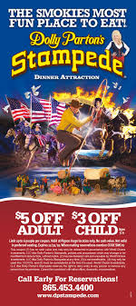Dolly Parton's Stampede — Smoky Mountain Coupon Book