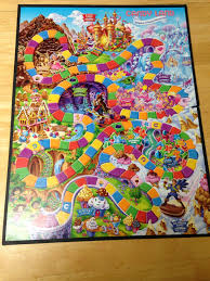 The Game Board For Candy Land Showing All Spaces