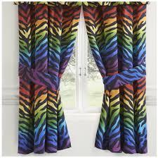 Zebra Curtain by Rainbow Zebra Drape Set Rainbow Zebra Curtain Set Crystal