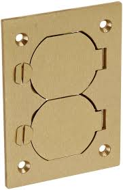 Hubbell Floor Box Covers And Accessories by Hubbell Wiring Systems S3825 Brass Round Floor Box Rectangle