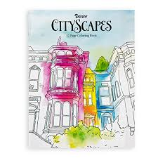 Darice Cityscapes Theme Coloring Books For Adults Darcies Cityscape Themed Book Has Detailed Patterns Designed