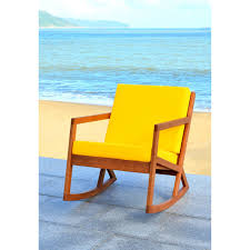 100 Gus Rocking Chair Shop Safavieh Outdoor Living Vernon Brown Yellow On