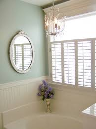 Chandelier Over Bathtub Soaking Tub by Plantation Shutters For Privacy Tongue And Groove Splashbacks And