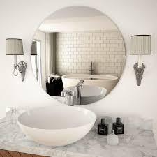 wandspiegel 70 cm rund glas spiegel dekospiegel schminkspiegel für badezimmer wohnzimmer schlafzimmer