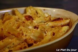 pâtes gratinées au chorizo le plat du jour
