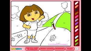 Free Dora Coloring Games Online At Pages