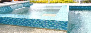Waterline Pool Tile Designs by 1x2 Turquoise Blue Mix Luvtile Pool Tile