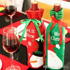 Wine Kitchen Decor Sets by 2017 Christmas Wine Bottle Decor Set Santa Claus Snowman Deer