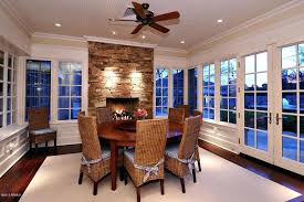 Ceiling Fans Over Dining Room Table