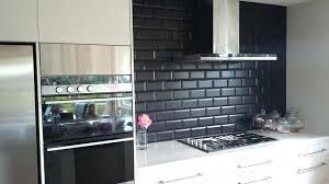 black tile kitchen backsplash white kitchen ideas glass subway