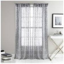 Dkny Mosaic Curtain Panels by Dkny Halo Rod Pocket Sheer Window Curtain Panel In White Rod