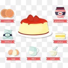 Strawberry cheesecake and raw materials Biscuit Cookies Egg PNG and Vector