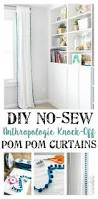 Plum And Bow Blackout Pom Pom Curtains by Add Pom Pom Trim To Inexpensive Ikea Curtains 9 99 Pair For