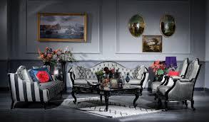 casa padrino luxus barock wohnzimmer set silber schwarz 2 sofas 2 sessel 1 couchtisch 2 beistelltische wohnzimmer möbel im barockstil