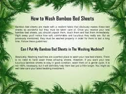 A guide from bamboo sheets shop on how to wash bamboo bed sheets
