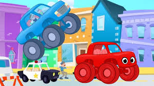 100 Kids Monster Truck Videos The Sticky Chase With Morphle Video For Kids