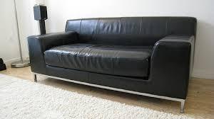 ikea black leather sofa klippan two seat sofa kimstad black ikea