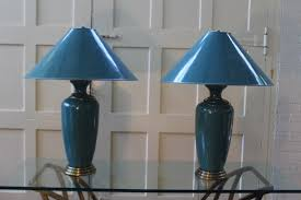 Frederick Cooper Porcelain Table Lamps by Vintage Pair Frederick Cooper Tyndale Lamps Original Shades Brass