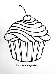 Cupcake Drawing Black And White Gallery