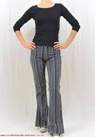 Womens Clothes Vintage Striped Corduroy Pants Size XS Zero 90s Clothing Tumblr Flared Y2K ZVEUZGILAP