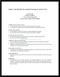 Resume Examples For Year 9 Students Combined With Scholarship Templates Outline