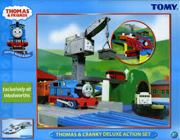 Thomas Tidmouth Sheds Deluxe Set by Image Motorroadandrailthomasandcrankydeluxeactionsetbox Jpg