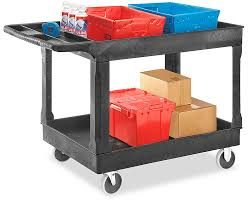 Uline Utility Carts Blue In Stock
