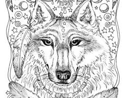 Instant Download 5 Pages Animal Spirits To Color Wolf Raven Crow Eagle Bear Native American Art