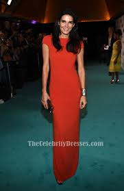 angie harmon red short sleeves evening dress in film 2015 crystal
