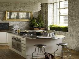 Also Colors Cabinet Rustic Industrial White Kitchen Design Look Decor