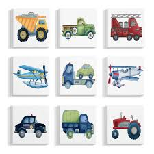 100 Truck And Transportation Stupell Industries 12 In X 12 In And Plane