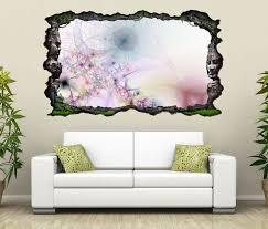 3d wandtattoo 3d effekt blume blumen rosa pink abstrakt kunst textur muster selbstklebend wandbild wandsticker wohnzimmer wand aufkleber 11o023